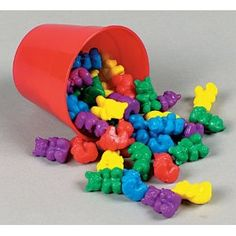 I loved these! Colored bears used for math and sorting in school.