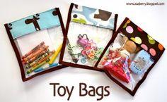 zaaberry velcro toy bag