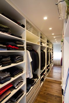 wardrobe room enlarged by mirror