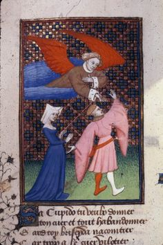 Queen's Book, fol. 133v. Troilus and Briseis. BL MS Harley 4431, The Book of the Queen, Selected Works of Christine de Pizan, 1410-1414AD.