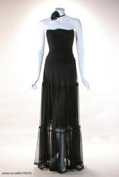 vintage Chanel dresses   vintage CHANEL Sexy Black Tulle Evening Dress, 1980's - eBay (item ...