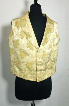 All The Pretty Dresses: Men's American Civil War Era Vest