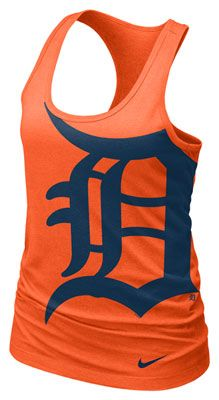 I can see me in this orange Detroit Tigers Nike racer back tank. :-)