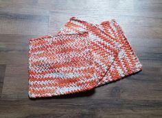 Wash Cloth - Dish Cloth - Dish Rag - Wash Rag - Loom Knit (Set of 3 Poppy Ombre) by LoomKnittedHats #etsy #etsyseller #loomknittedhats #shopping #acrylicyarn #cottonyarn