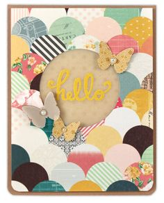 Vellum Hello Card - From October Card Chaos Class - Click through for project instructions.