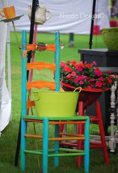 a little bit o' Shizzle: garden chair planters