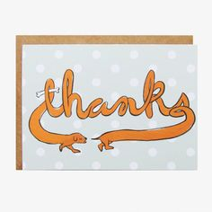Dachshund Thanks Card