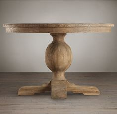 French Urn Pedestal Round Dining Table 60""