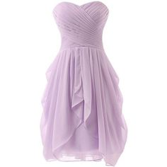 Light purple bridesmaid dresses ❤ liked on Polyvore featuring dresses, short chiffon dress, short dresses, lavender cocktail dress, chiffon dresses and purple dress