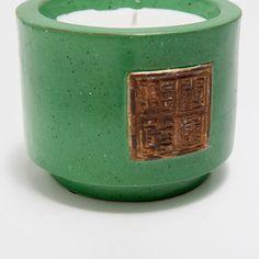 Świeca w zielonym ceramicznym pojemniku - Świeczki - Dekoracja | Zara Home…