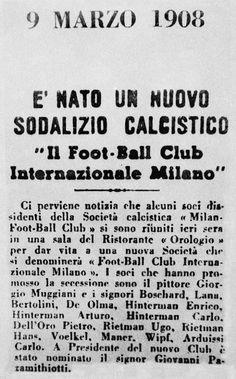 Football Club Internazionale Milano - 9 marzo 1908