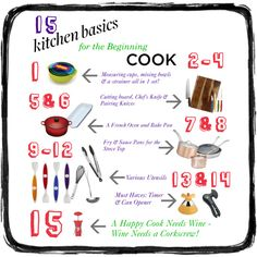 15 Kitchen Basic for the Beginner Cook by thatoddmom, via Polyvore