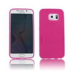 Samsung Galaxy S6 Edge Crystal Hot Pink Skin Case