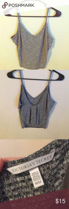 Victoria's Secret crop top Never been worn VS crop top; size Medium! Heather grey. Beautiful fit❤️ Victoria's Secret Tops Crop Tops