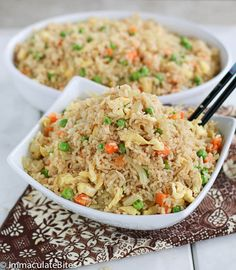 Coconut fried rice Learn how to make this quick and easy delicious vegetarian meal , made with coconut milk ,garlic, and a touch of curry with steps. Tasty Vegetarian Recipes, Veggie Recipes, Cooking Recipes, Meal Recipes, Shrimp Recipes, Recipies, Healthy Recipes, Coconut Fried Rice, Nigerian Food