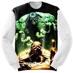 Art Hulk Marvel Custom Sweatshirt #Clothing #hulk #incredible #marvel #comics #avengers #apparels #apparel #sweatshirt