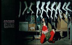 山口小夜子 アンダーグラウンドの力(2000年 アサヒグラフ) | 映画『氷の花火 山口小夜子』新潟上映実行委員会 Lama Lama, Video Lighting, Yamaguchi, Japanese Models, Vintage Bridal, Anastasia, Photo Art, Cinema, Satin