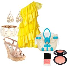 summer night on the town!, created by mak145 on Polyvore