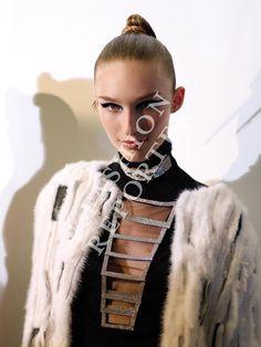 Manuela Frey at Atelier Versace Backstage | Haute Couture FW14-15 | Ph. Antonello Trio