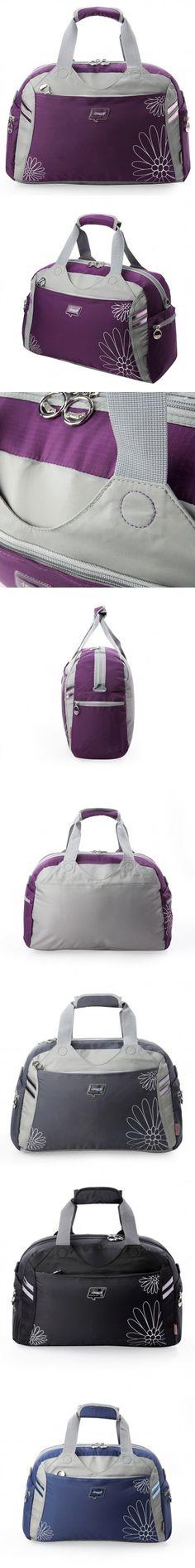 Sports Duffel Bags Oxford Textile Plant Flowers Hidden Zipper Pocket Japan And South Korea.
