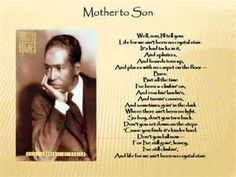 "Langston Hughes ""Mother to Son"""