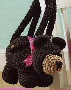 Crochet Bear Purse