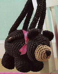 Crochet Bear Purse