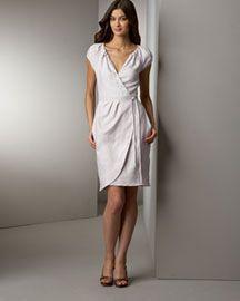 Diane von Furstenberg Linen Wrap Dress- Dresses- Bergdorf Goodman :  tie waist wrap dress dvf dress
