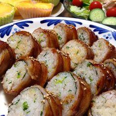 こってりタレに生姜飯がぴったり!パクパク食べちゃいますw。冷めても美味しいので、暑い夏にもGOODです☆ - 339件のもぐもぐ - 肉巻きロールおにぎりです。一気に巻いて焼いて切ってw。簡単・時短で美味し飯☆ by ゆんゆんゅん