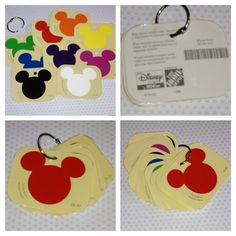"Simple craft for teaching/practicing colors. Laminate free paint samples, punch hole, hang on metal book ring. Great for diaper bag. Can also  be modified using index cards with pictures of food to ""help"" locate items on grocery list."
