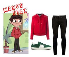 """""""Star vs. the Forces of Evil Marco Diaz"""" by star-butterfly ❤ liked on Polyvore featuring Burberry, Topman, men's fashion and menswear"""