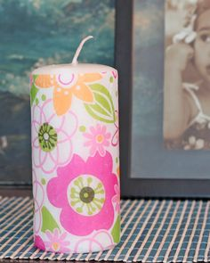 Kids Craft: Personalized Candles--Fun gift idea for your kids to make! Cute Crafts, Crafts To Do, Crafts For Kids, Arts And Crafts, Craft Gifts, Diy Gifts, Candle Craft, Candle Gifts, Personalized Candles