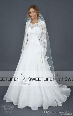 Line wedding dresses lace custom made atelier eme vintage bridal gowns