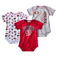 NFL Infant Boy s Body Suit 3-Pack - 49Ers Baby Outfits 851ebaab0