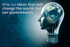 It is our ideas that will change the world | Anonymous ART of Revolution