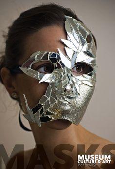 Mirror Mask by Francesca Scala, via Behance--mix of materials