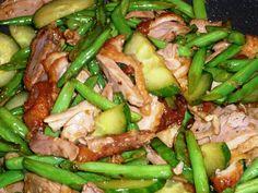 Peking eend met sperziebonen en komkommer in Chan's BV Oestersaus .. Smakelijke groet, Tammy Wong - Koken Met Specerijen