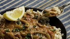 """This clever vegan re-creation of a Southern Louisiana étouffée comes from Jenné Claiborne, who included it in her 2018 cookbook """"Sweet Potato Soul."""" Succulent oyster mushrooms stand in for the shrimp or crawfish used in a traditional étouffée The seaweed called dulse brings a smoky, savory note and a mix of Creole and Old Bay seasoning provides the familiar flavors Ms"""