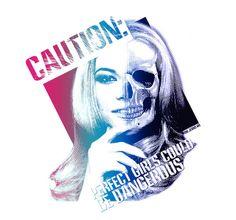 Caution - Estampa para t-shirt - Woxi
