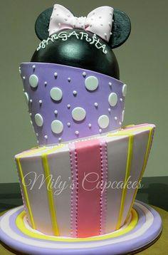 Topsy Turvy cake baby Minnie by Mily'sCupcakes, via Flickr