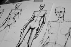 """peterdofashion: """" I got distracted from my market research paper and doodled again. Fashion Illustration Tutorial, Fashion Illustration Sketches, Illustration Techniques, Fashion Sketchbook, Fashion Sketches, Moda Fashion, Fashion Art, Fashion Installation, Fashion Figures"""