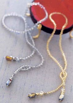 Lariat, like the opening for the bead, very easy.