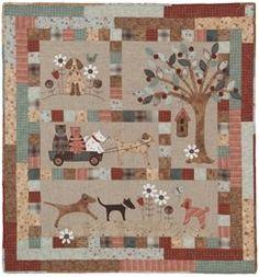 A Perros Vida BOM completa - Lynette Anderson Designs - Patterns.SECONDARY_SECTION $ 61.95: Tela Patch: Telas Patchwork Quilting, tela Moda, Suministros Edredón, Patrones