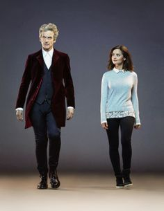 Doctor Who and Clara.