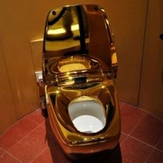 ... smart golden toilet