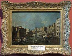 Francesco GUARDI Venise, 1712 - Venise, 1793  Le Pont du Rialto  H. : 0,20 m. ; L. : 0,29 m.
