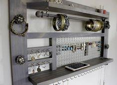 Jewelry Holder // Jewelry Shelf // Wall Mounted Jewelry