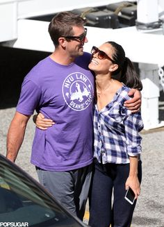 Olivia Munn Packs On the PDA With Aaron Rodgers: Olivia Munn got a special visit from her boyfriend, NFL player Aaron Rodgers, on the set of The Newsroom in LA on Friday.