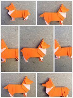 Origami Corgi steps on Steven Casey's photostream   Flickr - Photo Sharing! via How About Orange