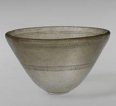 Conical bowl, 2nd–1st century B.C.  Hellenistic; Said to be from Syria  Cast glass